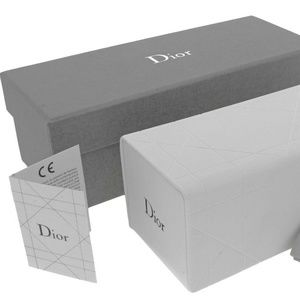 DIOR WHITE LEATHER SUNGLASSES SMALL CASE